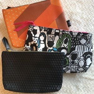 Set Of 3 New Without Tags Make Up Bags By Ipsy